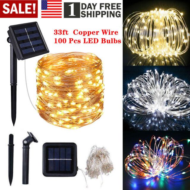 Solar Powered 30 LED String Light Garden Path Yard Decor Lamp Outdoor Decor3