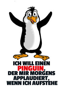 Ich-Will-a-Penguin-Tin-Sign-Shield-Arched-Metal-Tin-Sign-20-x-30-CM
