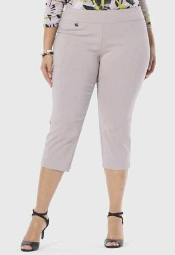 Alfani Tummy Control Pull-On Capri Pants Beige Plus Sizes 14W//16W//18W//20W//24W