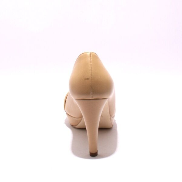 Gibellieri 2680c Beige Leather Platform Heel Pumps 37.5     US 7.5 51ef9b
