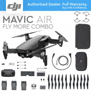 DJI MAVIC AIR Foldable & Portable Drone w/ 4K Camera ONYX BLACK - FLY MORE COMBO 695641993608