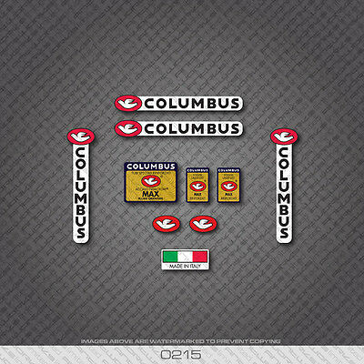 Decals 0215 Columbus MAX Bicycle Frame and Fork Stickers