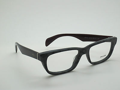 NEW Authentic PRADA VPR 11Q DHP-1O1 Matte Grey Havana Eyeglasses 54mm