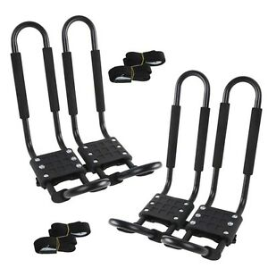 pairs universal roof  bar rack kayak boat canoe car suv top mount carrier  ebay