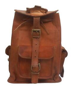 Large-Genuine-Leather-Back-Pack-Rucksack-Travel-Bag-For-Men-039-s-and-Women-039-s-1