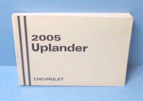 05 2005 Chevrolet Uplander owners manual