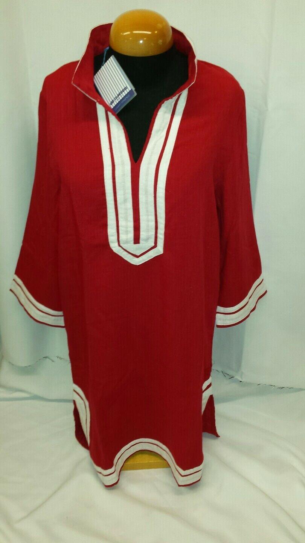 Les Canebiers damen Jumeaux Tunic Dress coverup rot L
