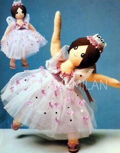 Ballerina-Doll-Sewing-Pattern-Copy-To-Make-a-Sugar-Plum-Fairy-Toy-Ballet-Dancer