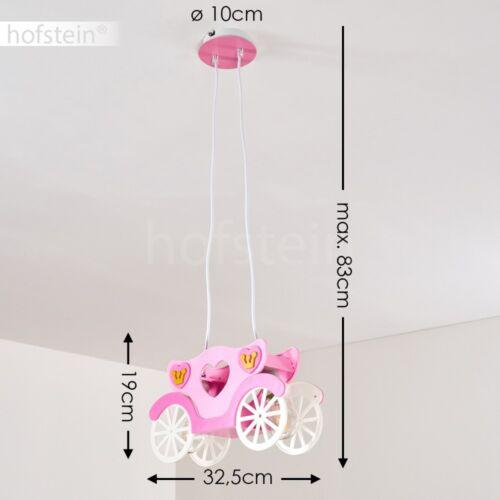 Kinder Mädchen Zimmer Pendel Leuchte Decken Hänge Lampe Prinzessin Kutsche Pink