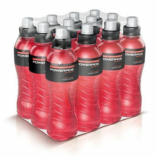 als erfrischendes Powerade Sports Wild Cherry Iso Drink mit Elektrolyten …