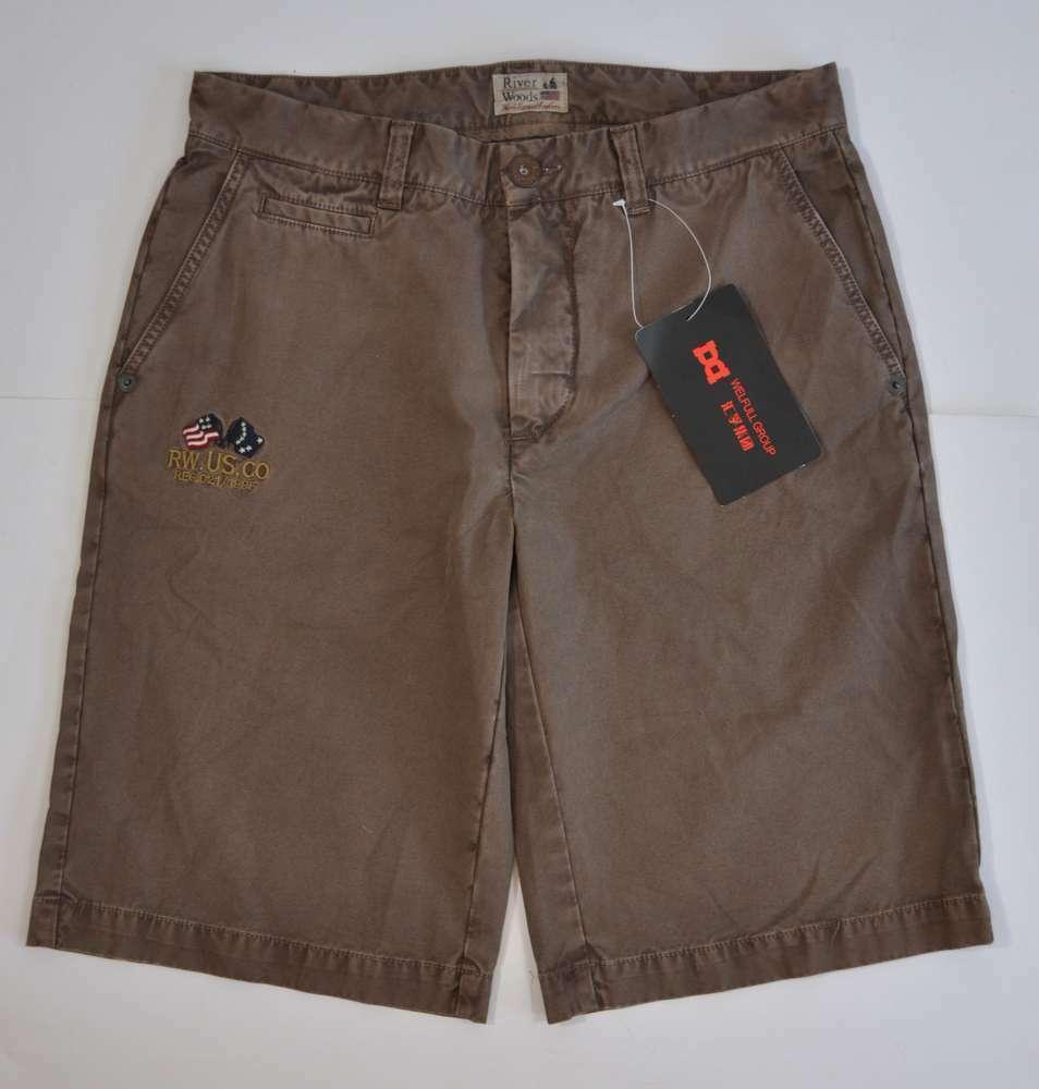 River Woods Men's Bermuda Shorts Size 48 Brown