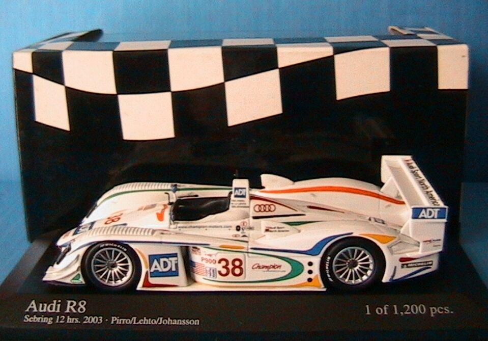 AUDI R8  38 SEBRING 12 HOUR 2003 PIRRO LEHTO JOHANSSON MINICHAMPS 400031338 1 43
