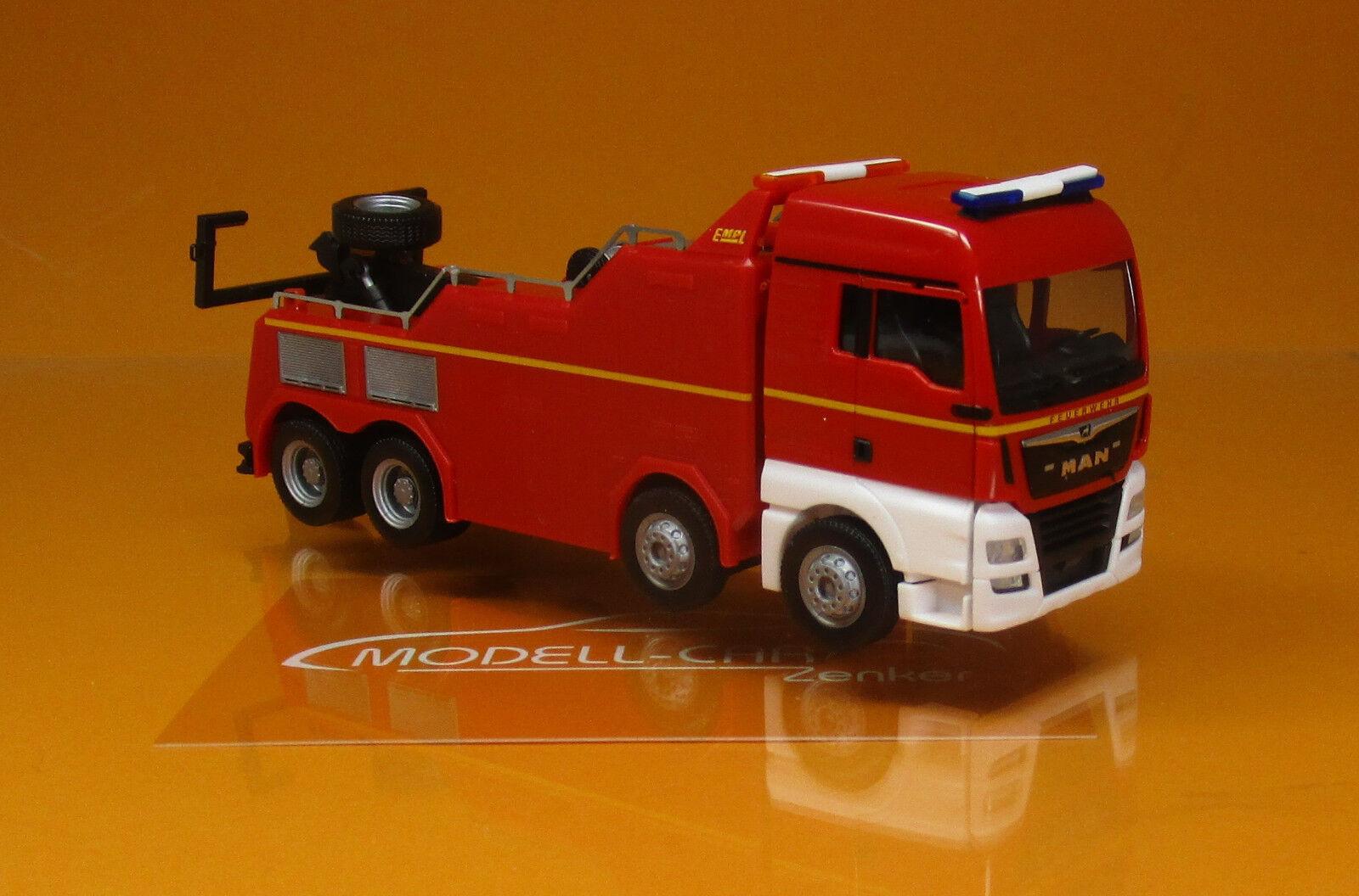 Herpa 309608 MAN TGX XLX Euro 6 C empl montagnes véhicule pompiers Scale 1 87 NOUVEAU