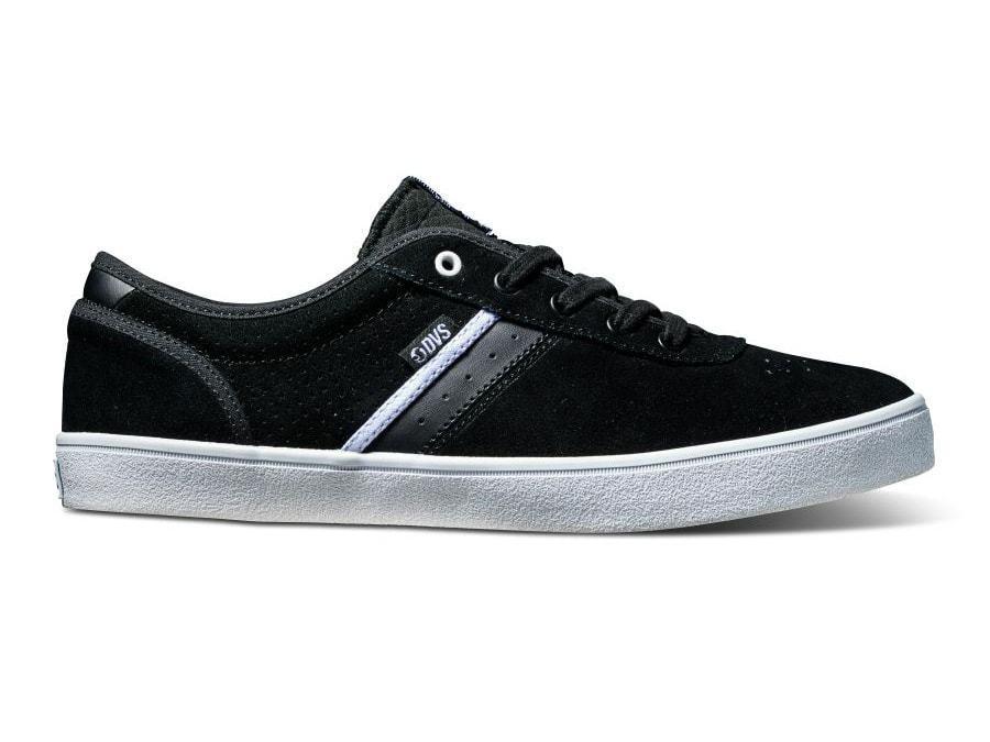 DVS EPITAPH + scarpa (nero/bianco in pelle scamosciata) ** Rivenditore Ufficiale Regno Unito **