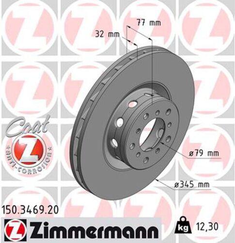 1x ZIMMERMANN Bremsscheibe COAT Z 150.3469.20 für BMW E39 vorne rechts 5er