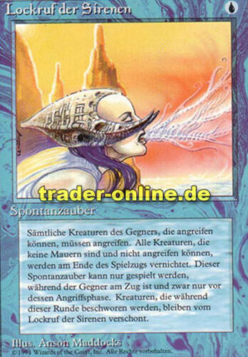 Lockruf der Sirenen Magic limited black bordered german beta fbb Siren/'s Call