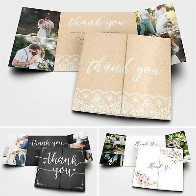 Matrimonio Personalizzati Ringraziamenti Con Foto + Buste #072-mostra Il Titolo Originale