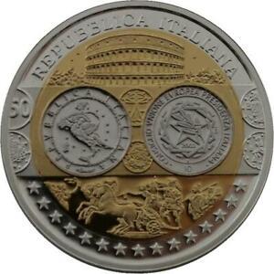 R1343 Medal Italy 10 Euros EU Presidency 2003 Silver 999% PF Proof BE -> M Offer