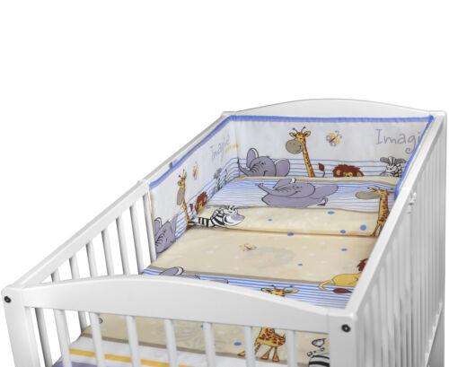 NURSERY BABY BEDDING SET FIT 120x60 COT 2 3 5 6 PC PILLOW DUVET COVER BUMPER