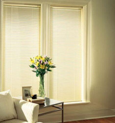 "Springs Window Fashion Alabaster Aluminum 1 Inch Mini Blinds 23/""W x 42/""L"