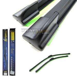 2x-Premium-morbido-flat-tergicristalli-piatto-Frontale-Set-650-500mm