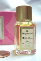 Womens Rare Fragonard Magnolia Perfume 7 Ml Mini Vanity Bottle Edt Floral
