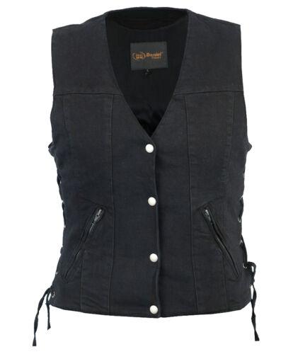 Lommer Side Lommer Kvinders Gun 5 Vest Black Laces Carry W Denim Skjulte fw4q0P18w