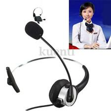 330° RJ11 Telephone Headset Noise Cancelling Microphone Headset For Desk Phones