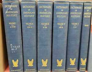 Dictionary-of-American-History-1940-Complete-in-6-Vol-Very-Good