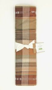 Pottery Barn Newton Plaid Table Runner 18 X 108 Fall