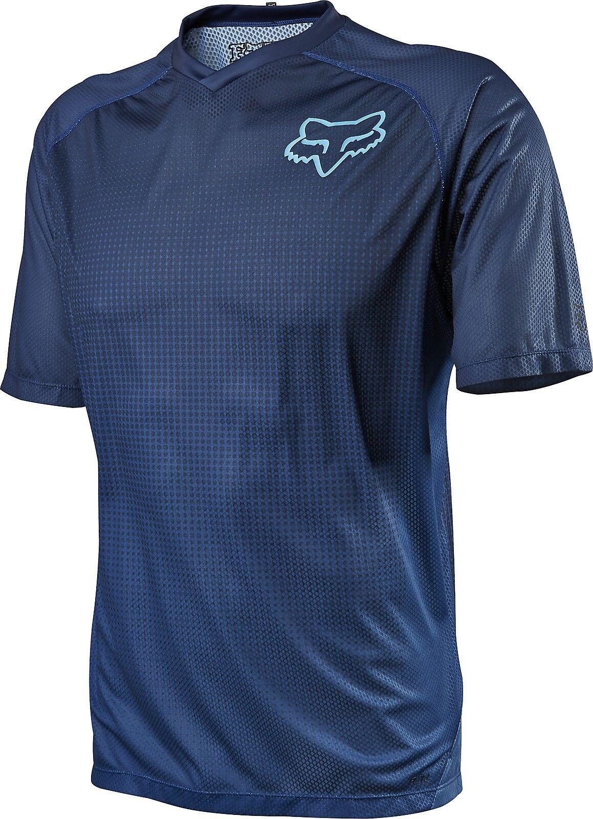 Fox Racing Flow s s Jersey Blau