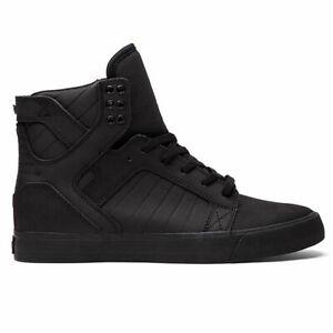 Supra-Men-039-s-Skytop-Hi-Top-Sneaker-Shoes-Black-Black-Footwear-Skateboarding-Skate
