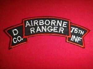 Guerra-Vietnam-Rollo-Eeuu-Ejercito-D-039-Company-75th-InfanteriaRgt-Ranger-Parche