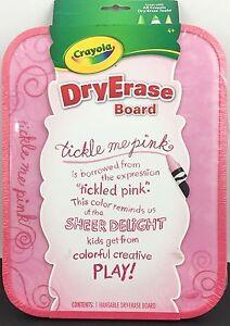 crayola hangable dry erase board tickle me pink 71662286118 ebay