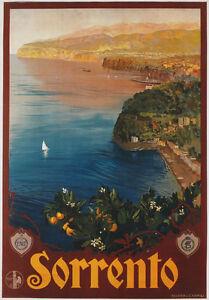 TV88-Vintage-1927-Sorrento-Campania-Italian-Italy-Travel-Tourism-Poster-A2-A3