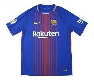 Barcelona 2017-18 ORIGINALE Maglietta (eccellente) M SOCCER JERSEY