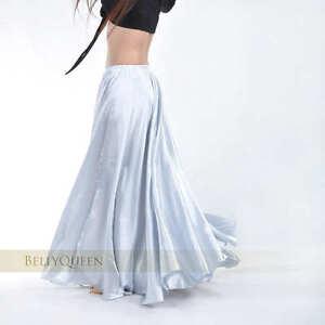 14 color Shining Satin Long Skirt Swing Skirt Belly Dance Costumes ...