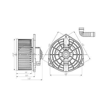 TYC 700325 Blower Assembly Motors Heating eledenimport.com