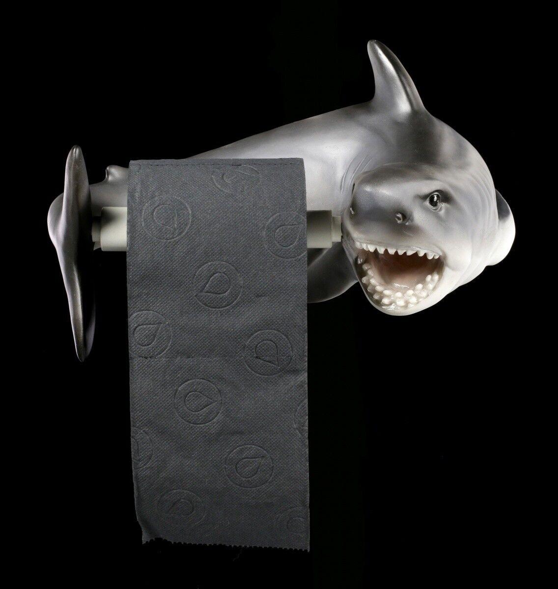 Portarrollos - Tiburón - Pez Deprojoador Decoración de Baño Regalo