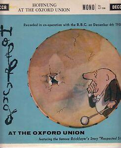 Gerard HoffnungHoffnung At The Oxford Union 10034Decca LF 1330 1960 2 Track - Halesworth, United Kingdom - Gerard HoffnungHoffnung At The Oxford Union 10034Decca LF 1330 1960 2 Track - Halesworth, United Kingdom
