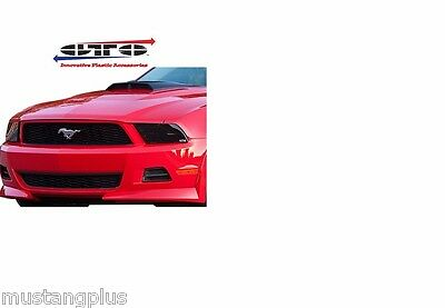 2010-2012 FORD MUSTANG GT V6 GTS SMOKED HEADLIGHT COVERS  # GT0251S