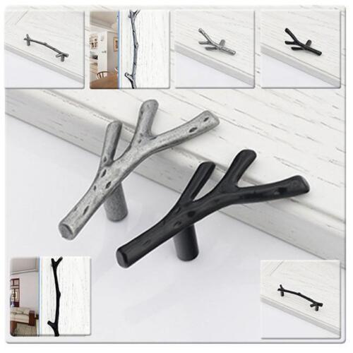 Unique Twig Door Pull Handles Furniture Cabinet Drawer Cupboard Knob Hardware F