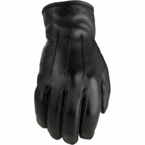 Z1R Womens Black 938 Deerskin Leather Thinsulated Motorcycle Gloves Pick Size