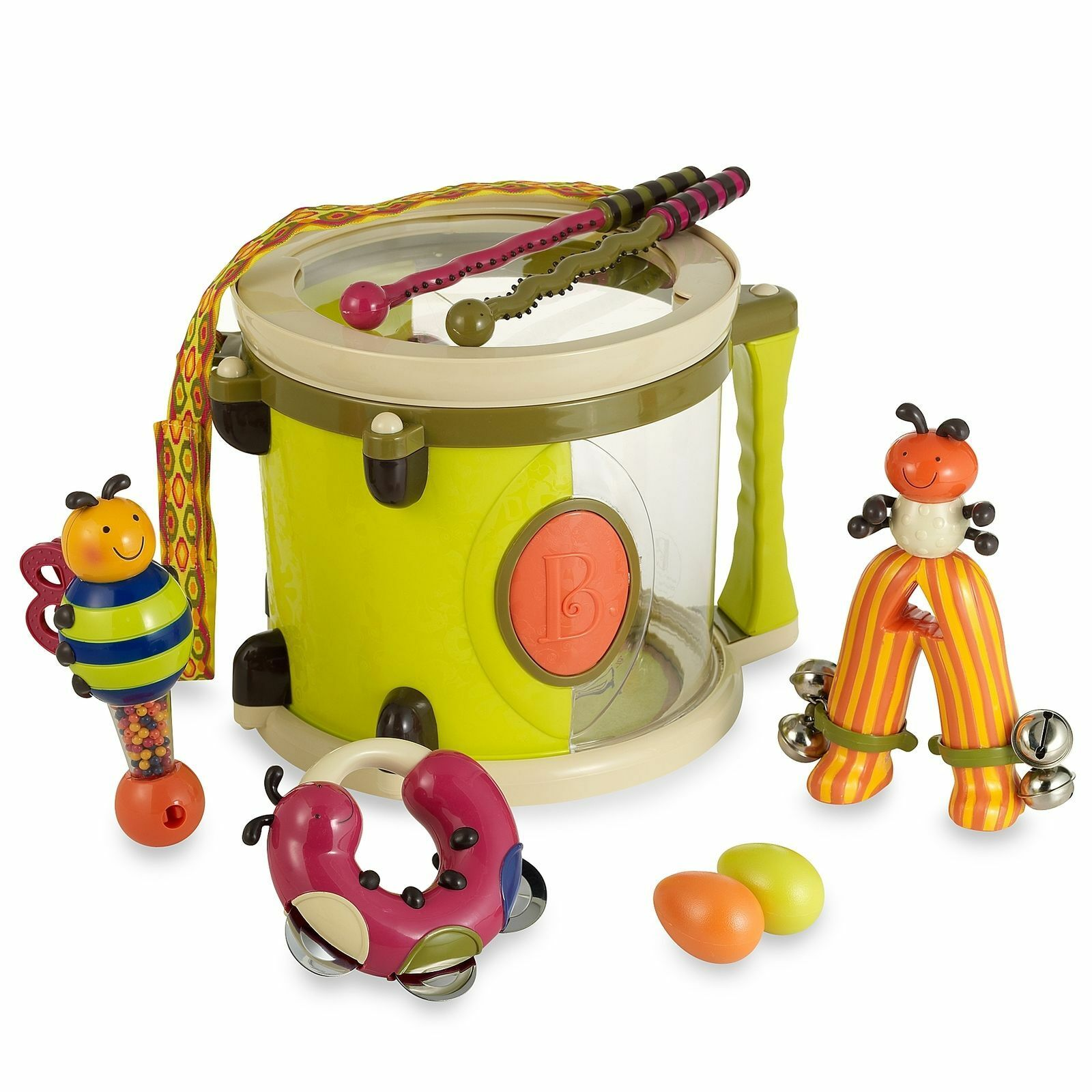 B Parum Pum Pum Toy Drum Set Musical Toys Bug Instruments for Toddlers NEW