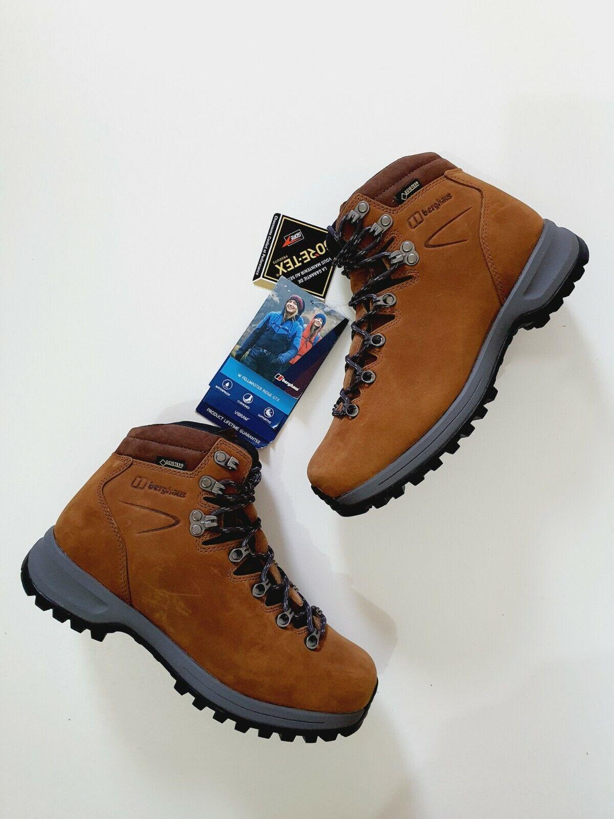 Berghaus Womens Fellmaster Ridge GTX Vibram Cushioned Brown Leather Boots UK 5