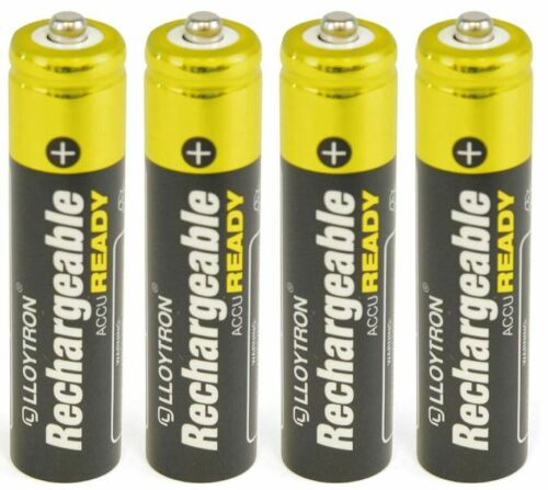 4 x AAA LLOYTRON SOLAR GARDEN LIGHT RECHARGEABLE BATTERIES READY TO USE