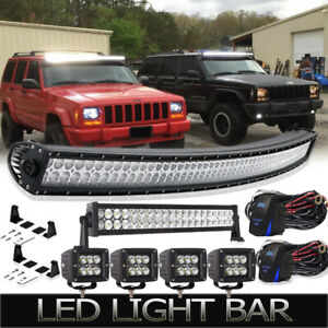 Details About Led 50inch 288w Light Bar 22 Light Bar 4x4 Pods Combo For Jeep Cherokee Xj Us