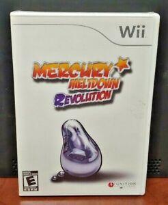 Mercury Meltdown Revolution  Nintendo Wii and Wii U Rare Game - Brand New Sealed