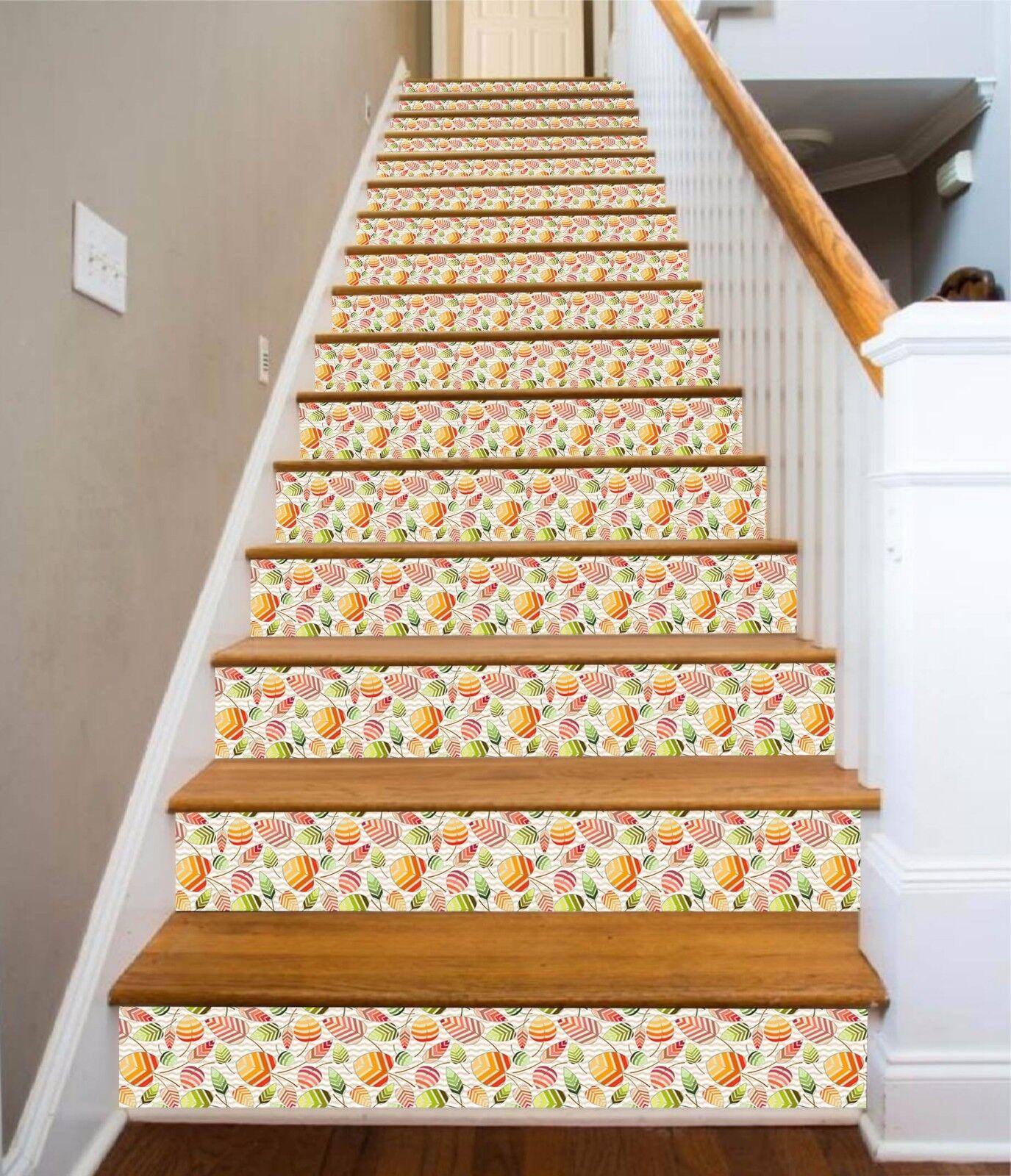 3D Blatt 56 Stair Risers Dekoration Fototapete Vinyl Aufkleber Tapete DE Lemon