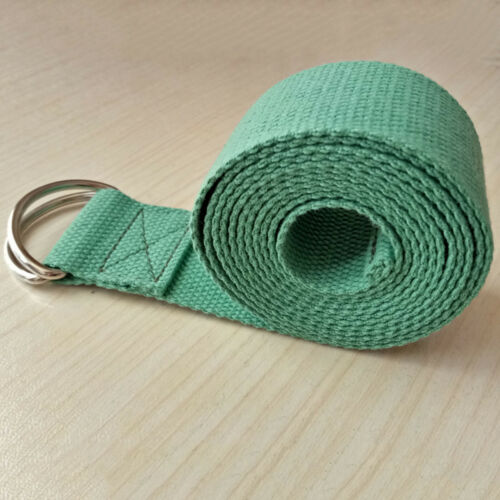 180CM Sport Yoga Stretch Strap D-Ring Gym Waist Leg Fitness Adjustable Belt SZ